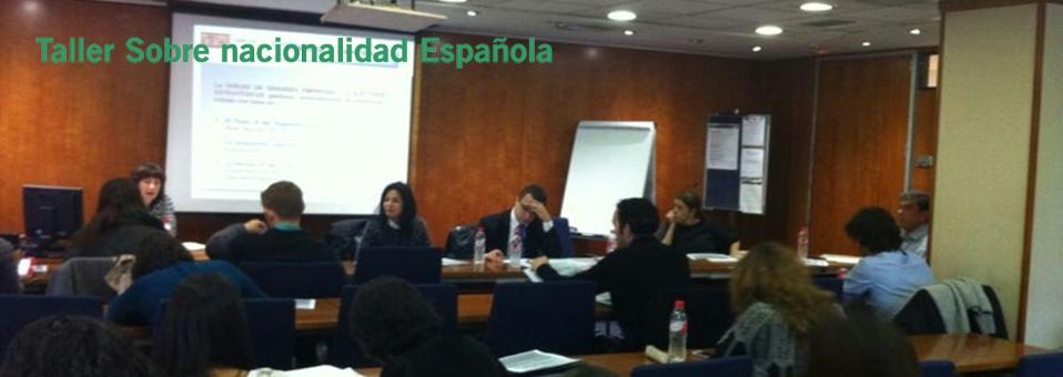 taller sobre nacionalidad española