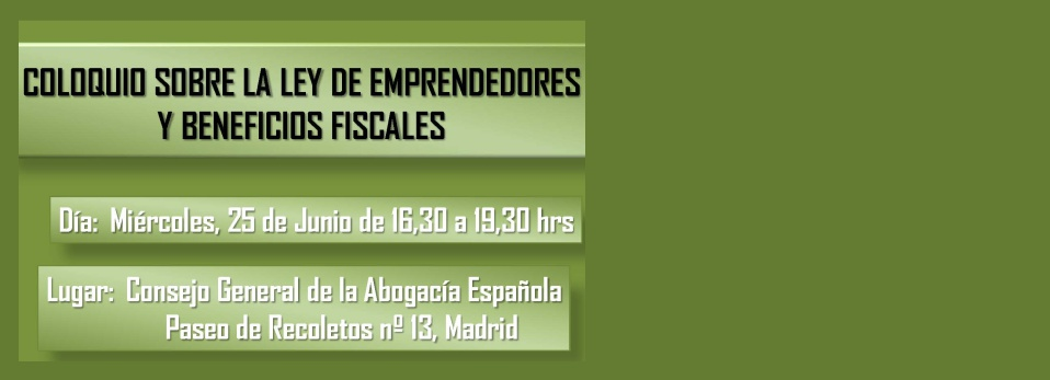 COLOQUIO SOBRE LEY DE EMPRENDEDORES Red internacional de abogados Eureka